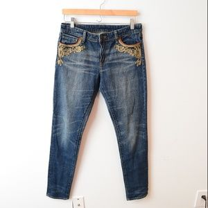 Denim & Supply Ralph Lauren Skinny Jeans Gold 30